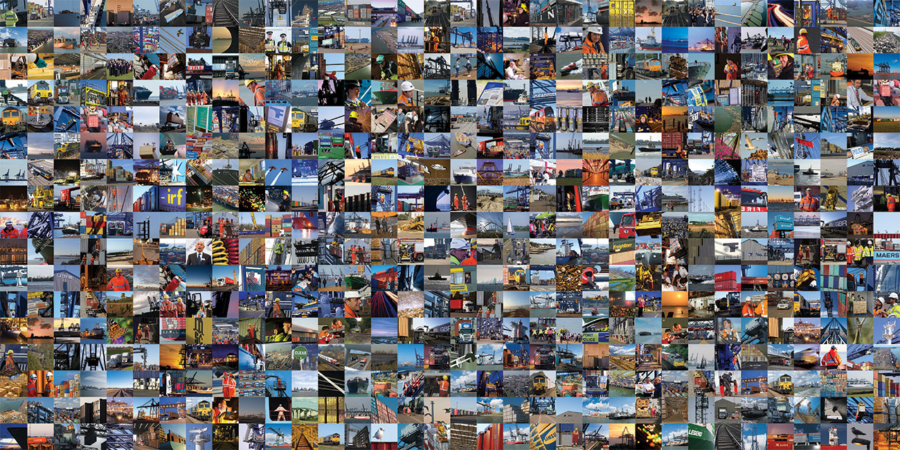 Port of Felixstowe journal montage
